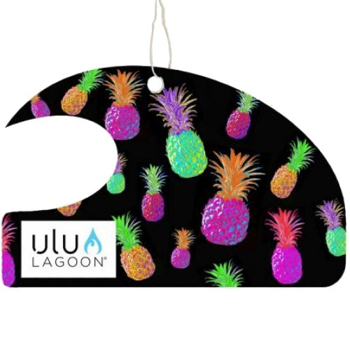 Ulu Lagoon 3 pack of Electric Pineapple Mini Wave air fresheners. Scent of surfwax.