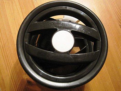 Peg Perego Doppel Vorder Rad schwarz weiß für Pliko P3 Compact und Switch schwarz/weiß ab Kollektion ab 2012