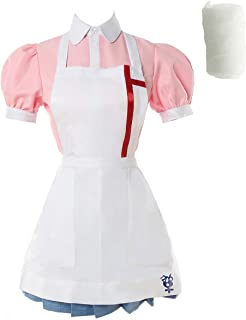 CR ROLECOS Super Danganronpa 2 Mikan Tsumiki Cosplay Costume Cosplay Mikan Nurse Maid Outfit