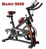 2020 - Bicicleta estática de Spinning Deportiva para Estudio, Entrenamiento en Interiores, Fitness,...