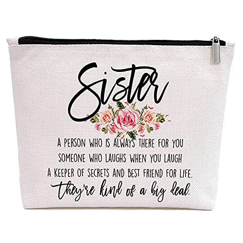 Sister Gifts from Sisters, Birthday Gifts for Women Sister In Law Big Sister, Graduation Christmas Gift for Best Friend Little Sister, They're Kind of A Big Deal -Makeup Bag Gift for Sister