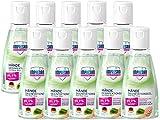 Impresan Hände Desinfektions-Gel mit Aloe-Vera: Hygienische Händedesinfektion für unterwegs - antibakteriell - 10 x 55ml