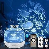 3 in 1 Lampada Proiettore Stelle Bambini, CoPedvic Luce Notturna Bambini Neonati con LED A...
