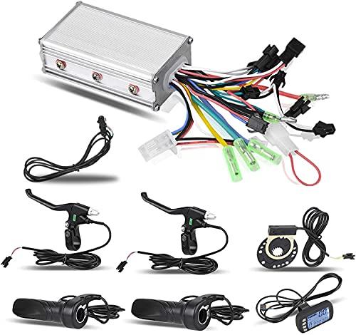 Dioche Motor Brushless Controller, 24 V/36 V 250 W/350W Brushless Motor Controller LCD Panel Kit für E-Bike Elektro Bike Roller