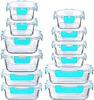 LYTIO - Juego de 24 recipientes herméticos y a Prueba de Fugas Reutilizables Resistentes a Manchas y olores con Tapas de...