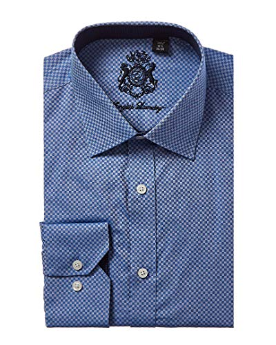 English Laundry Mens Dress Shirt, 16 34X35, Blue