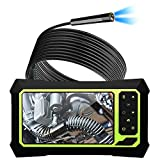 Upgraded Industrial Endoscope with Screen1080P Pro HD Digital Borescope Camera 4.3 Inch LCD Screen Inspection Camera, Waterproof Snake Camera with 8 Bright LED Lights Gift for Men