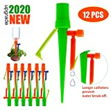 LAVIZO 【New Upgrade】 Plant Self Watering Spikes,Auto Watering Spikes, Automatic Irrigation System for Potted Plants, Water Plants While Away, Drip Watering System for Any Plants - Never Stopping Flow