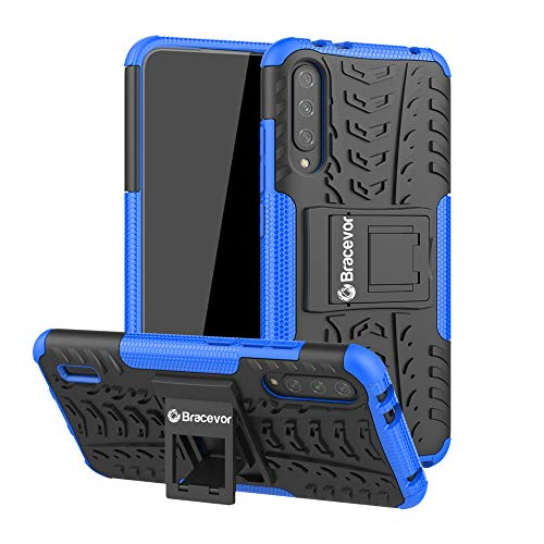 Bracevor Hybrid Back Cover Kickstand Case for Xiaomi Mi A3 - Blue | Rugged Defender