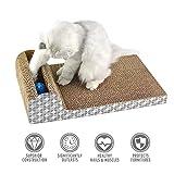 UBEST Kratzbrett für Katzen mit Katzenminze, 46 * 24 * 11 CM, Kratzbaum, Kratzmöbel, Haustier Spielzeug