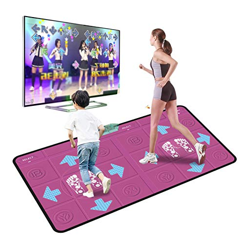 Tanzmatte für Kinder Erwachsene,Rutschfest musikalische Spielmatte Tänzer Decke Yoga verdrahtet Spieldecke Tanzmaschine Funktioniert mit PC und TV,Enthält 63 Spiele und 100 Songs (Hot Pink, 170*93CM)