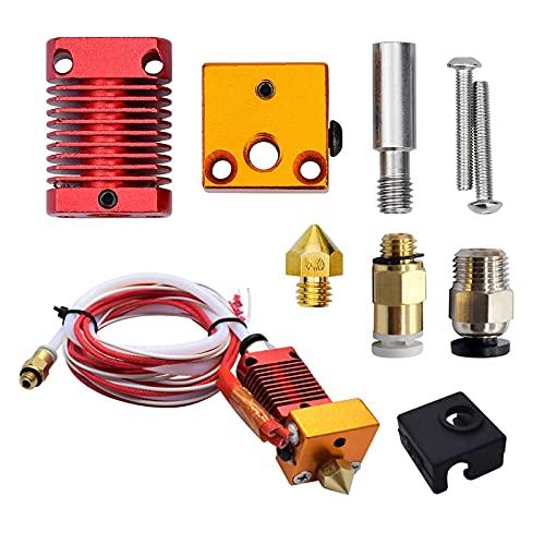 LdawyDE Repuestos de impresora 3D, kit de extremo caliente de extrusora, accesorios de impresora 3D, conexión de rosca externa, adecuado para productos de las series CR10 y Ender 3 (24V 40W)