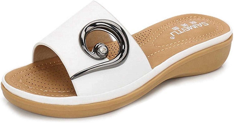 GIY Womens Open Toe Slide Sandals Summer Comfort Slip-on Flat Platform Sandal Causal Wedge Slipper