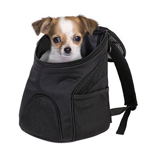 Pedy Hunderucksack Katze Tragetasche,35×30×40cm,Stoff Faltbarer Haustier-Reise-Rucksack für kleinen Haustiere wie Hunde,Welpen, Katzen in Outdoor-Reise Wandern(Groß)