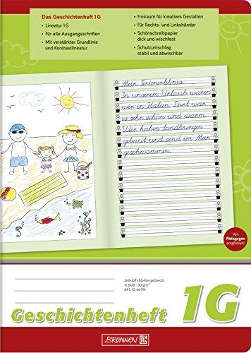 Brunnen 1044991 Geschichtenheft Klasse 1 (A4, 16 Blatt, Lineatur 1G)