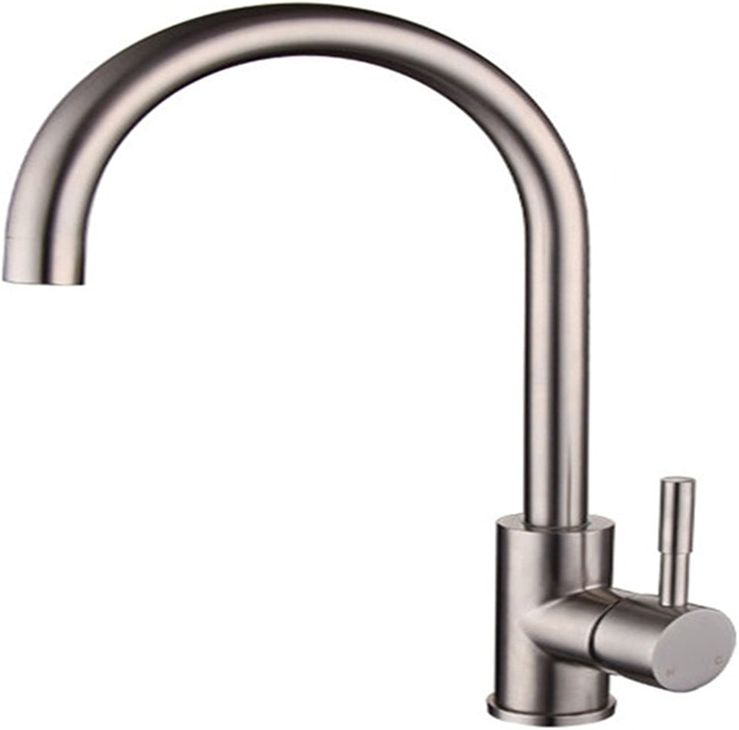 Bijjaladeva Antique Bathroom Sink faucet 304 stainless steel kitchen faucet hot and cold water faucet large sink sink lead-free brushed kitchen greenical faucet