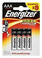 Energizer Max Alkaline AAA/LR03 batteries Pack of 8