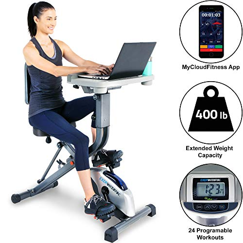 EXERPEUTIC EXERWORK 2000i Bluetooth Folding Exercise Desk...