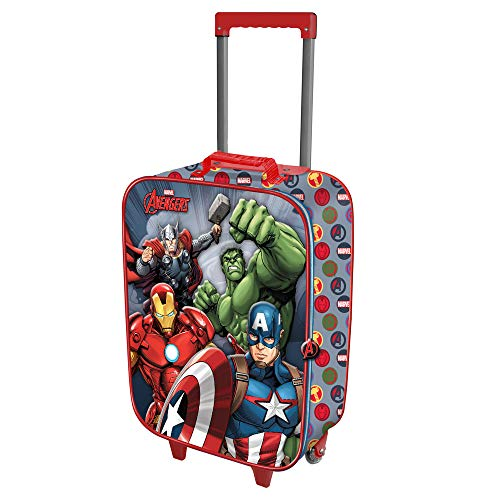 Karactermania Avengers Force-Valise à Roulettes Soft 3D Equipaje Infantil 52 Centimeters 23 (Multicolour)