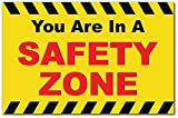You are in A Safety Zone 17' x 11' Posters (Pack of 4) for National Safety Month Decorations