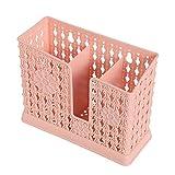 Portaje de la jaula de la jaula de la jaula de la jaula de la jaula multifuncional Cocina de plástico del palillo de la jaula del almacenamiento de la jaula de tres grillas,Pink