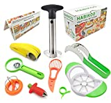 Habikoo Fruit Slicer Peeler, Avocado Knife Watermelon Banana Apple...