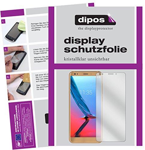 dipos I 4X Schutzfolie klar kompatibel mit ZTE Blade V9 Vita Folie Bildschirmschutzfolie (2X Vorder- und 2X Rückseite)