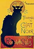 Vintage Poster Kunstdruck Dekoration Chat Noir (die Black