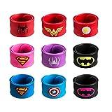 DeDeSoon Slap Bracelet, Slap Bracelet Toys for Kids,Boys & Girls Birthday Party Supplies Favors (9 in Pack)