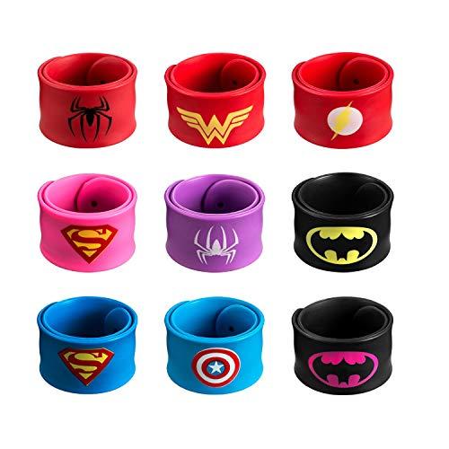 DeDeSoon Slap Bracelet, Slap Bracelet for Kids Boys & Girls Birthday Party Supplies Favors (9 in Pack)