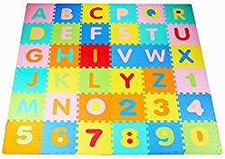 alphabet learning play exercise tumbling mat for toddlers