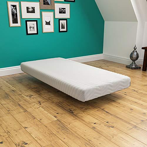 Vida Designs Luxurious Memory Foam Mattress, Upholstered, Medium Firmness, Rolled, Single 3ft, 7 Inch, UKFR