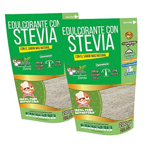 DulciLight Stevia Edulcorante Natural 400gr=4kg de Azucar .10 veces más dulce que el Azúcar.