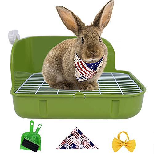 Humorous.P Small Animal Litter Pet Toilet Potty Trainer Corner Litter Bedding Box Pet Pan for Small Animal/Rabbit/Guinea Pig/Galesaur/Ferrets Rectangular Plastic Material