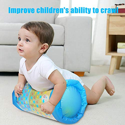 QINGBAO Baby Crawling Fitness Toys Exercise Your Baby's Hearing and Touch Exercise Your Baby's Muscles and Coordination Baby Toys for 6 Months 1 2 3 Year olds (Blue)
