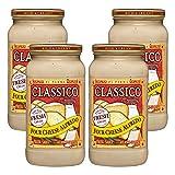 (4 Pack) Classico Four Cheese Alfredo Pasta Sauce, 15 oz Jar