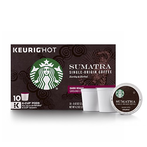 Starbucks Sumatra Dark Roast Single Cup Coffee for Keurig Brewers, 60 Count
