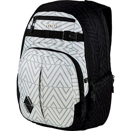 Nitro Chase Rucksack, Schulrucksack mit Organizer, Schoolbag, Daypack mit 17 Zoll Laptopfach, Diamond Grey, 35L