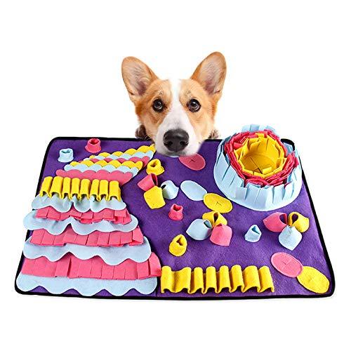 FREESOO Schnüffelteppich Hund Schnüffelmatte Riechen Trainieren Schnüffeldecke Suchteppich Hund Schadstofffreies Hundespielzeug Intelligenz Futtermatte Schnüffelteppich Katze Pet Snuffle Mat