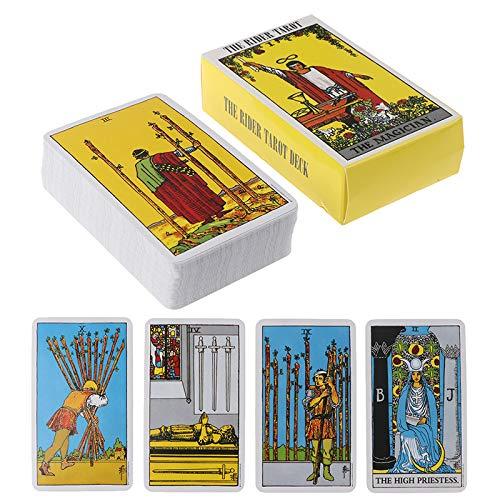 Tarot Rider Waite Tarot Deck, Tarot Deck 78 Carte Carte di tarocchi e Set di Libri, Giochi da Tavolo per Feste con volantini (Versione Inglese)