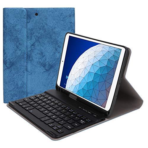 Toetsenbord Protector, Huidtextuur PU en TPU Leer met Pen Slot Beschermende Cover voor Tablet Toetsenbord, Toetsenbord met Sneltoetsen Case Smart Tablet (10.5 Inch), Blauw
