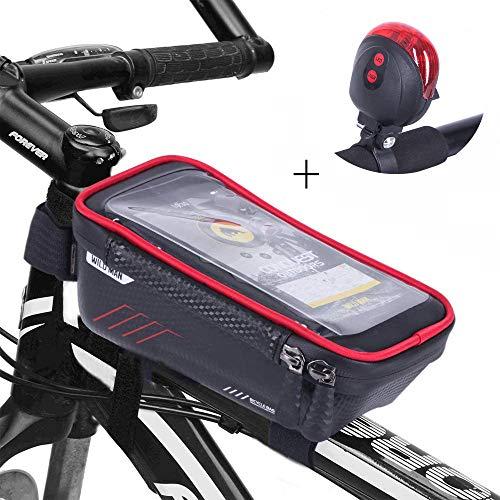 ANDSTON Fahrrad Rahmentasche, Rahmentasche Fahrradtasche Wasserdicht Fahrradtasche TPU Touchscreen Sports Rahmentasche Oberrohrtasche Fahrrad Handyhalterung Geeignet für Smartphones bis 6.5 Zoll