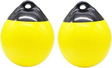 X-Haibei Pair of Boat Fenders Ball Round Anchor Buoy, Dock Bumper Ball Inflatable Vinyl A Series Shield Protection Marine Mooring Buoys