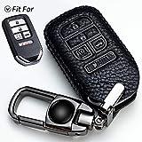 MMMM car Key Fob Cover Suit for Honda Accord Civic Fit Pilot Odyssey CRV Clarity CRZ HRV Ridgeline EX EX-L Genuine Leather Key fob Cover Key Holder