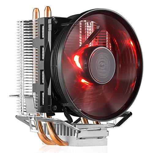 piao piao Cooler Master RR-T2V1-20FK 2 - Enfriador de CPU para ventilador Intel 775 115X AMD AM4 T20 CPU Radiador 95,5 mm silencioso CPU refrigeración LED (color de la cuchilla: T20 luz roja 3 pines)