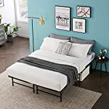 VECELO 14 Inch Foldable Metal Platform Bed Frame, Tool-Free Assembly/Box Spring Replacement/Quiet Noise Free-Full, Black