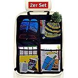 Systemoto Auto Organizer Rücksitz Kinder (2 Stück) mit Extra Großen Taschen - Autositzschoner für Rückenlehne Sitz - Sitzschutz für Autositz und Rückenlehnenschutz
