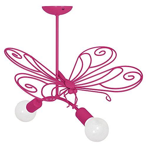 MOTYL II / Farfalla Rosa scuro Lampada per bambini Bambini luce Lampadari Lampada a sospensione