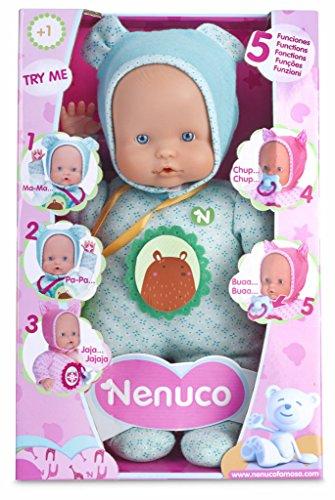 Nenuco Muñeco con Funciones, Color Azul, única (Famosa 700013381)