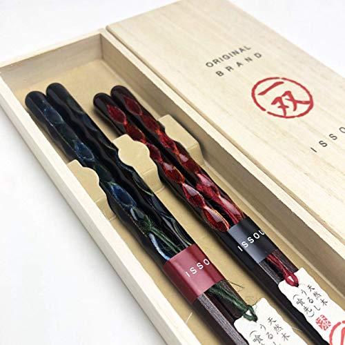 山家漆器店 一双 ギフト 箸 セット 閃光 ペア 弁当 おしゃれ 日本製 国産